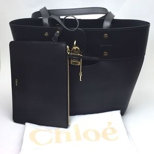 CHLOÉ Small Aby Leather Tote